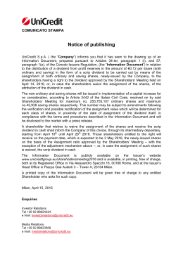 Notice of publishing