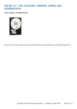 WD RE 3.5``, 5TB, SATA/600, 7200RPM, 128MB