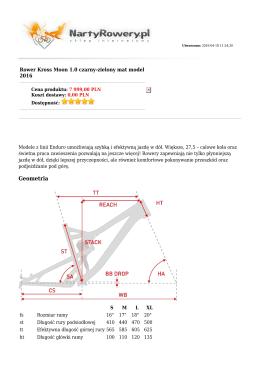 Geometria - NartyRowery.pl