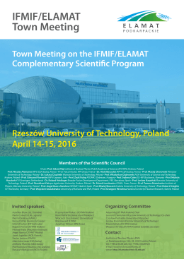 poster  - IFMIF/ELAMAT Scientific Council