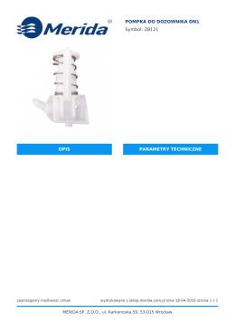 Karta katalogowa produktu - MERIDA sklep internetowy