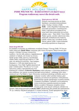 Indie Północne i Rajasthan