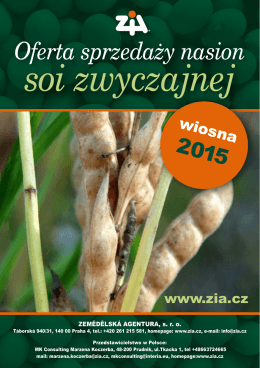 Oferta sprzedaży nasion soi zwyczajnej