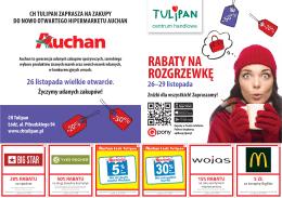 katalog rabatów - Centrum Handlowe Tulipan