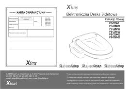 instrukcja obsługi Xime PB-X800