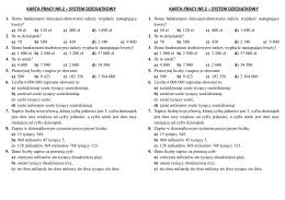 system dziesiątkowy karta pracy nr 2 – system dziesiątkowy