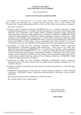 Uchwala Nr IX/80/15 z dnia 29 kwietnia 2015 r.