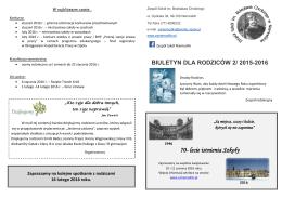 Biuletyn nr 2 - ZS Niemodlin Zespół Szkół im. Bolesława Chrobrego