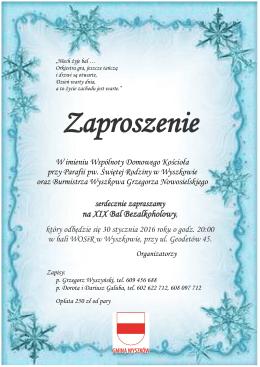 Zaproszenia na bal