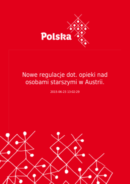 Nowe regulacje dot. opieki nad osobami starszymi w Austrii.