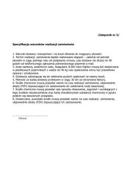 /Załącznik nr 2/ Specyfikacja warunków realizacji zamówienia 1
