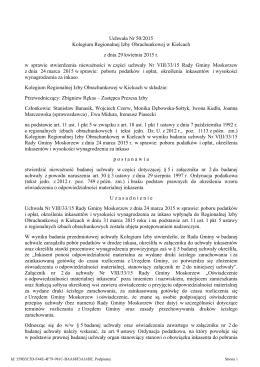 Uchwala Nr 50/2015 z dnia 29 kwietnia 2015 r.