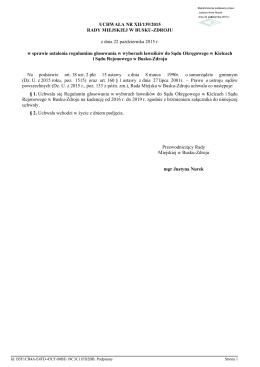 Uchwala Nr XII/139/2015 z dnia 22 pazdziernika 2015 r.