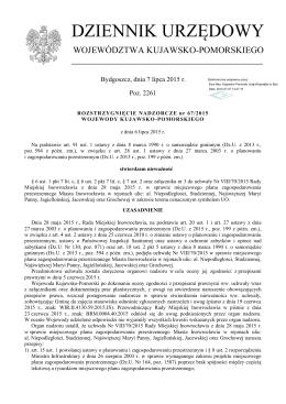 Rozstrzygniecie nadzorcze Nr 67/2015 z dnia 6 lipca 2015 r.