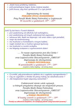 Pomoce Amicus - Parafia Matki Bożej Fatimskiej