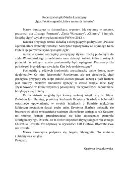 Recenzja Grażyny Łyczakowskiej