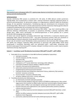 rozpiska - Zakład Biotechnologii i Inżynierii Genetycznej