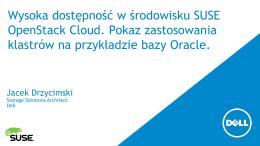 Wysoka dostępność w środowisku SUSE OpenStack Cloud. Pokaz