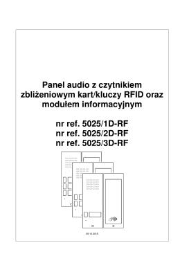 Panel audio z czytnikiem zbliżeniowym kart/kluczy