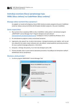 Instrukcja wymiany klucza sprzętowego typu WIBU