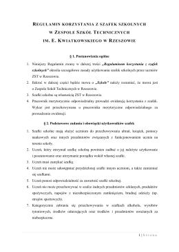 Regulamin korzystania z szafek szkolnych_2015