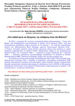 III Mazowiecka Pielgrzymka HDK - Klub Honorowych Dawców Krwi