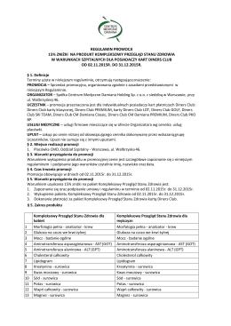 regulamin kompleksowy przegląd stanu zdrowia _2