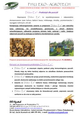 informacja - Miechowscy Pszczelarze