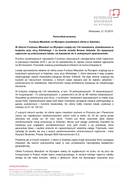 Fundusz Mieszkań na Wynajem przedstawia ofertę w Gdańsku