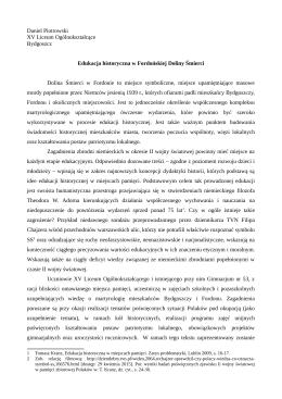 Daniel Piotrowski XV Liceum Ogólnokształcące Bydgoszcz Dolina