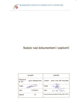 Nadzór nad dokumentami i zapisami