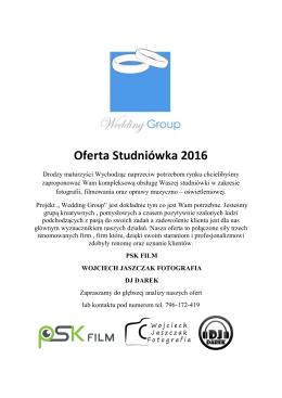 Oferta Studniówka 2016