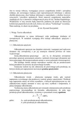 Obróbka plastyczna - dr inż. Ryszard Kuryjański