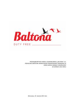 Sprawozdanie jednostkowe_PHZ_Baltona_ HY_2015