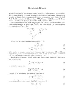 O zagadnieniu Keplera