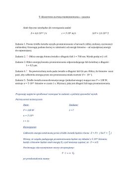 Temat 4. Kwantowa natura promieniowania