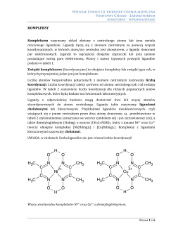 KOMPLEKSY - Podstawy Chemii