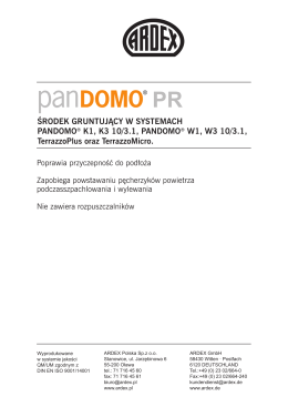 Karta techniczna - Witamy w ARDEX Polska