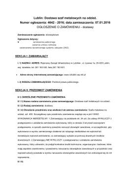 Ogłoszenie o zamówieniu - Rejonowy Zarząd Infrastruktury w Lublinie