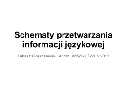 Schematy przetwarzania informacji językowej