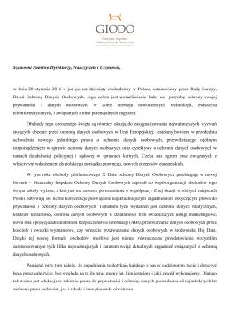 List Pani dr Edyty Bielak