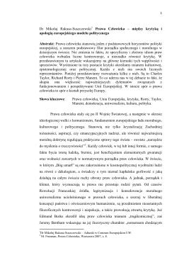 Dr Mikołaj Rakusa-Suszczewski 1 Prawa Człowieka