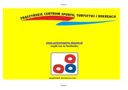 www.centrumsportu-zbaszyn.pl znajdź nas na facebooku