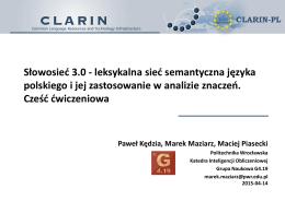 Słowosieć 3.0 - leksykalna sieć semantyczna języka
