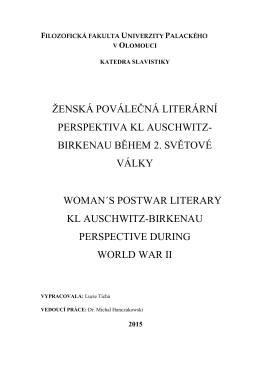 ņenská poválečná literární perspektiva kl auschwitz