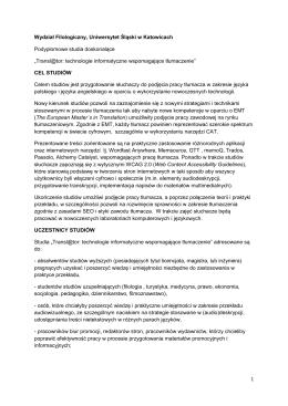 1 Wydział Filologiczny, Uniwersytet Śląski w Katowicach