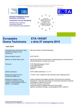 ETA-15/0387 SDF-8V PL