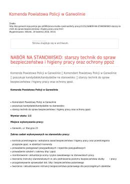 Generuj PDF - Komenda Powiatowa Policji w Garwolinie