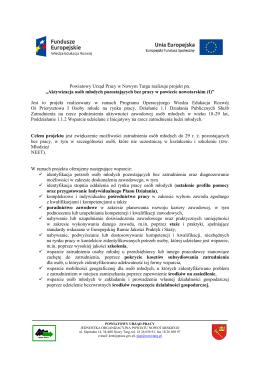 więcej... - Powiatowy Urząd Pracy w Nowym Targu