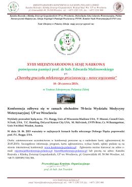 Konferencja w Polanicy 2015 info